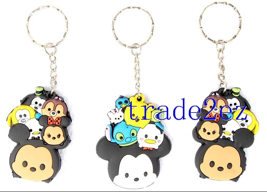 Double-sided Tsum Minnie/Mickey Mouse PVC keychains