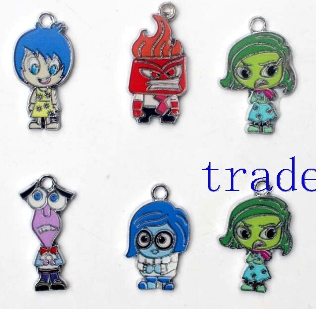 Cartoon Inside Out Metal Pendants