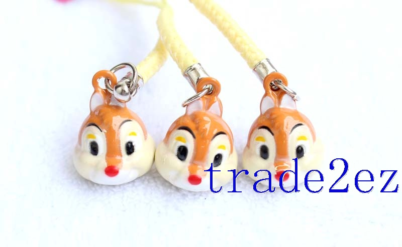 Disney Character Chip 'n' Dale Strap & Bell Charms