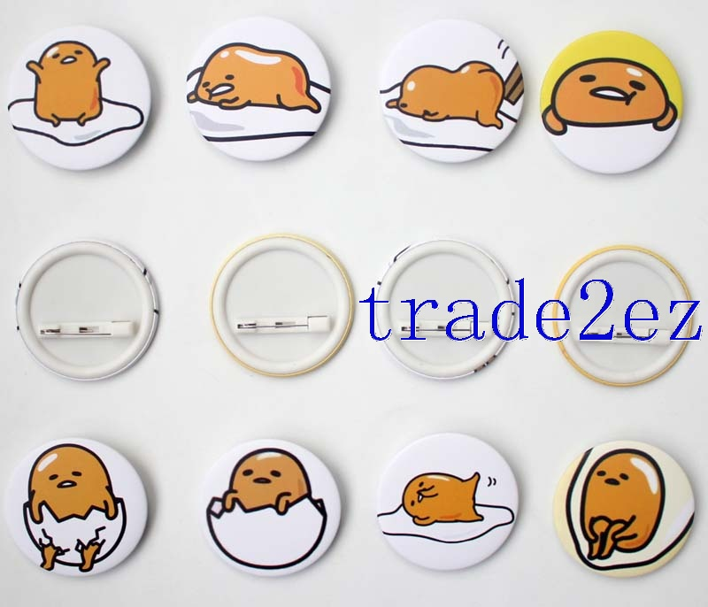 Anime Character Gudetama 4.5cm Cartoon Badge & Buttons