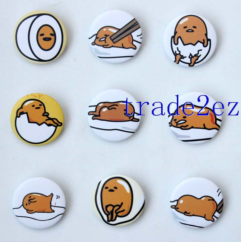 Animation Gudetama 3cm Cartoon Badge & Buttons