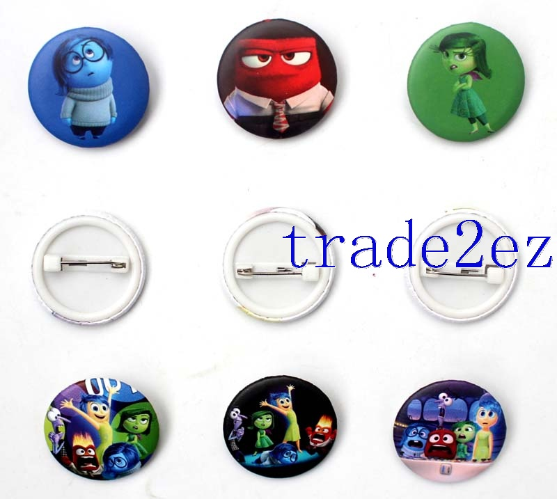 Disney Animation Inside Out 2.5cm Cartoon Badge & Buttons