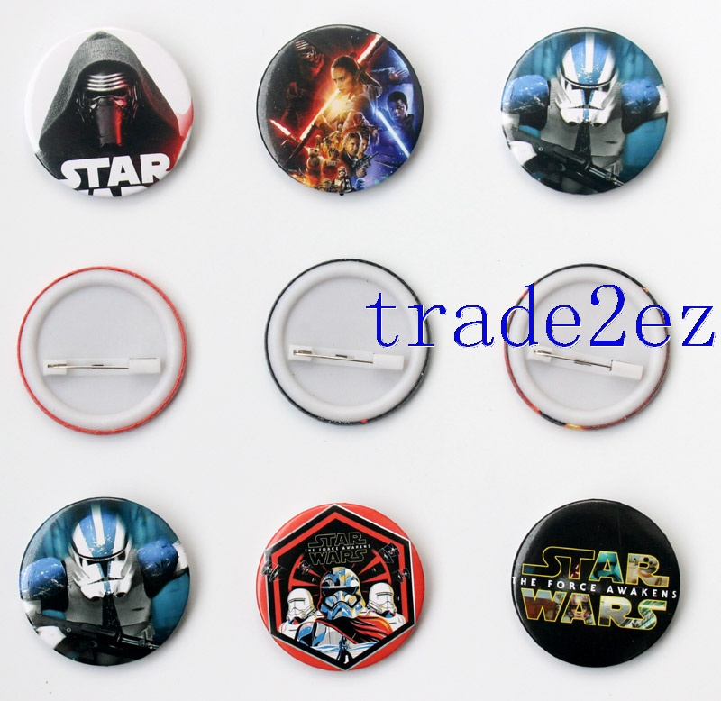 Star Wars 4.3cm Cartoon Badge and Buttons
