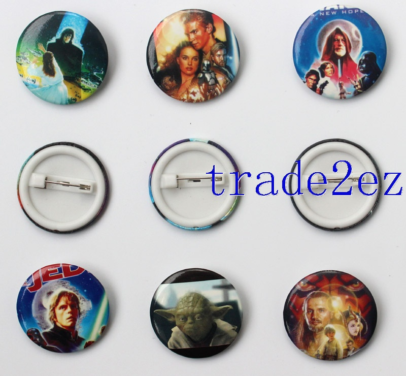 Star Wars 3cm Cartoon Badge and Buttons