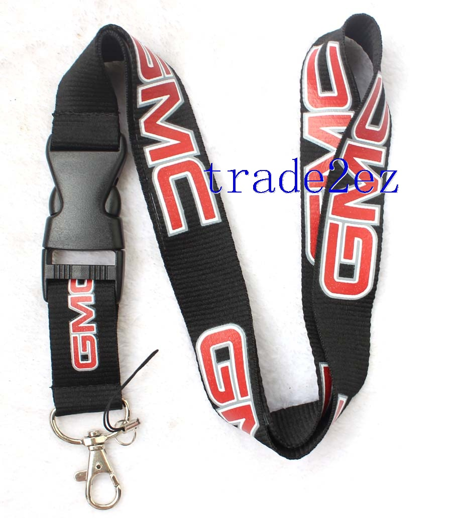 GMC Car Logo Lanyard Black/Red
