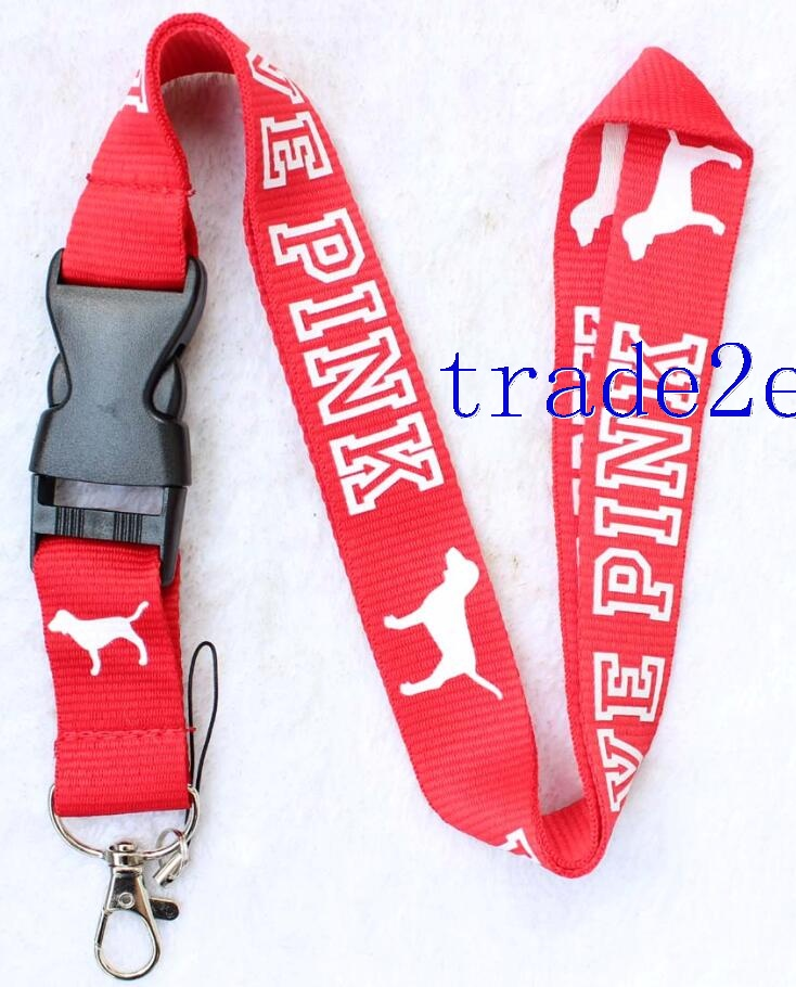 Love Pink Lanyard Red/white