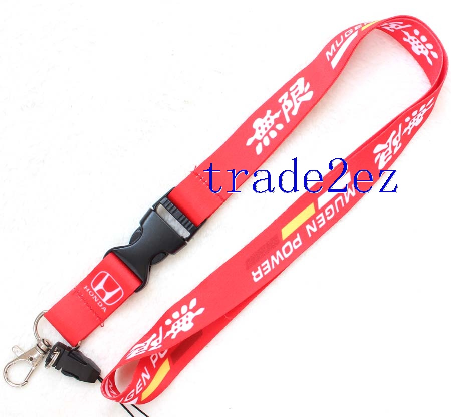 MUGEN POWER Red Lanyard Strap Keychain