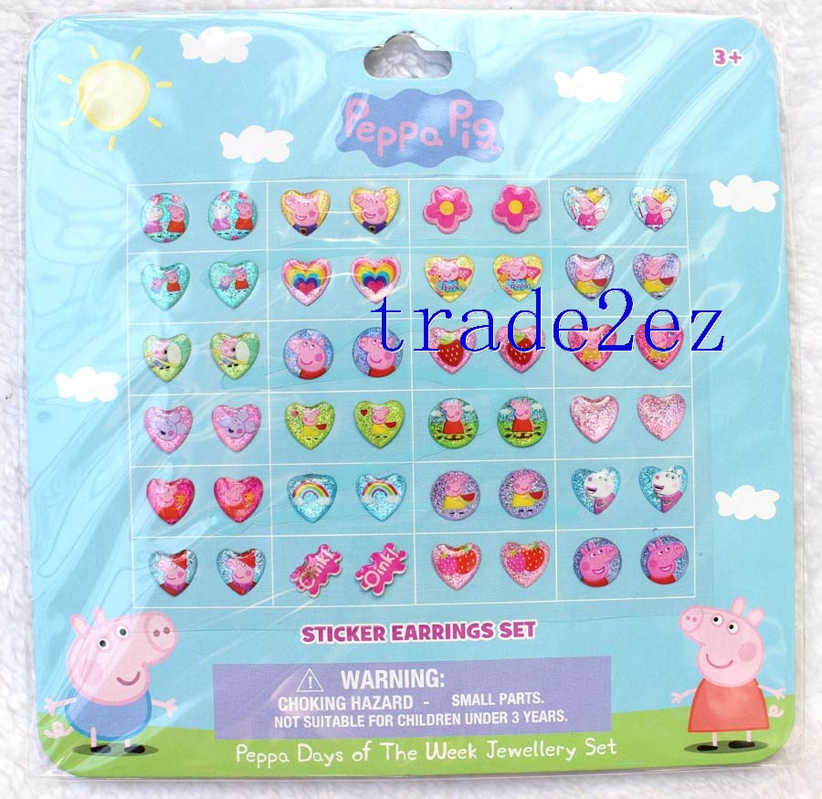 Peppa Pig Ambulance Earring Sticker