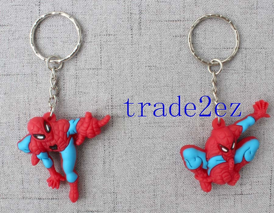 A key chain with 12 Spider-Man shapes
