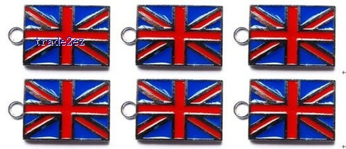 Union Jack phone charms pendants