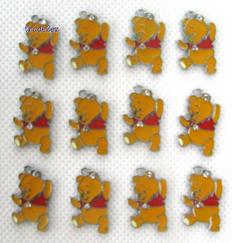 Winnie The Pooh Hang Pendant Charms Fit Pet Collar Bracelet Cell Phone Charms