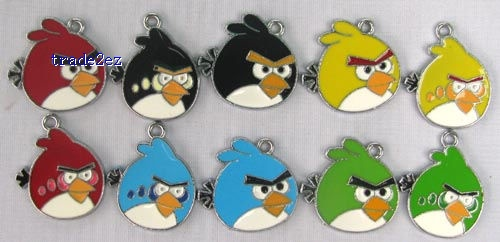 Angry Birds Jewelry Making Metal Charm pendants