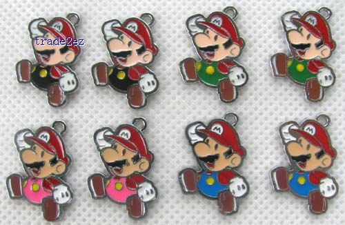Super Mario Bros DIY Metal Charms Jewelry Making