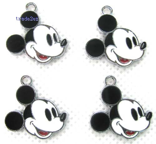 Mickey Mouse DIY Metal Charms Jewelry Making