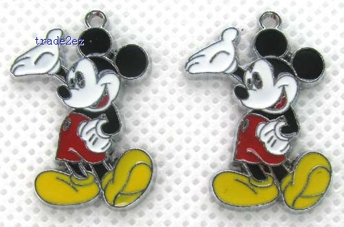 Mickey Mouse Metal Charms Earrings Pendants Jewellery Making