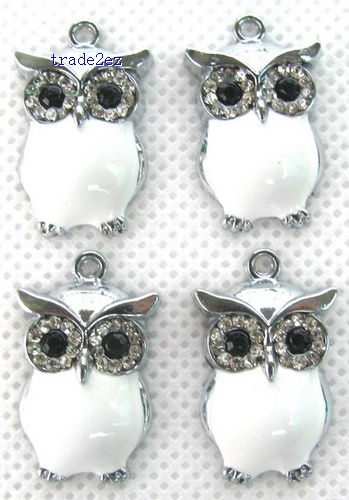 OWL Jewelry Making Metal Charm pendants