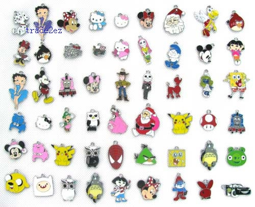 Cartoon Mix Style Jewelry Making Metal Charm pendants