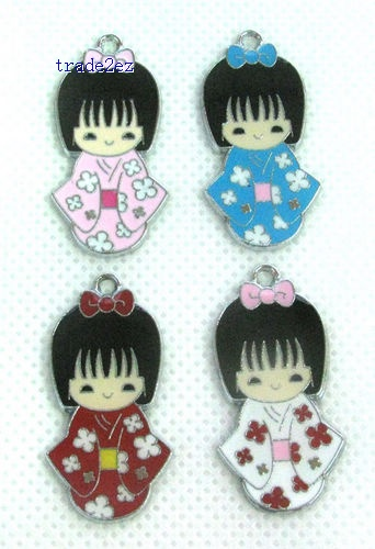 Japan Girl`s wear Kimono mobile phone charms pendants