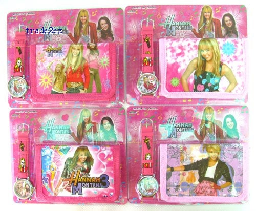 HannahMontana watches and wallet sets with gift box