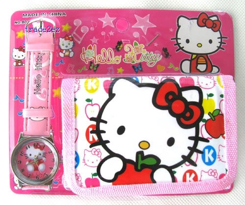 Hello Kitty Wallet Watch Purse cute christmas gift