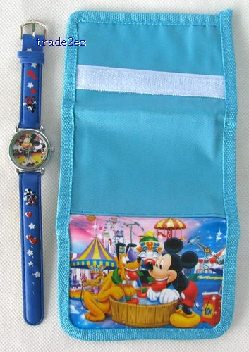 Mickey Mouse Wallet Watch Purse cute christmas gift