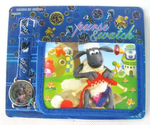 Shaun The Sheep  cartoon wrist watches + wallets a lot mix order