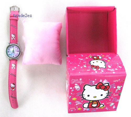 Hello Kitty kids fashion quartz cartoon Jelly Candy led with box