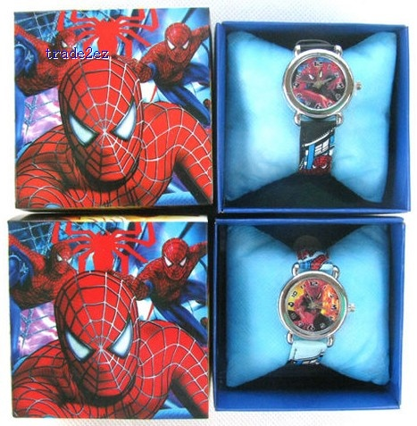 Cartoon Mix Kids Children Watch Wristwatch Gift Box