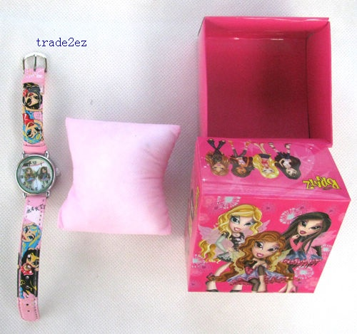 Bratz Cartoon Children Watch Gift Box Retail Packaging