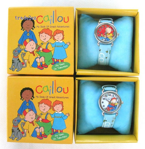 Caillou kids fashion quartz cartoon Jelly Candy led with box