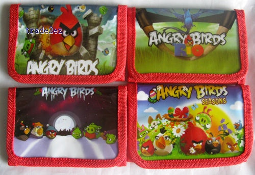 Angry Birds wallet purses gift bags