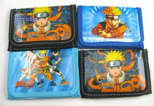 Naruto Child Coin Purse cartoon Wallet kid's gift