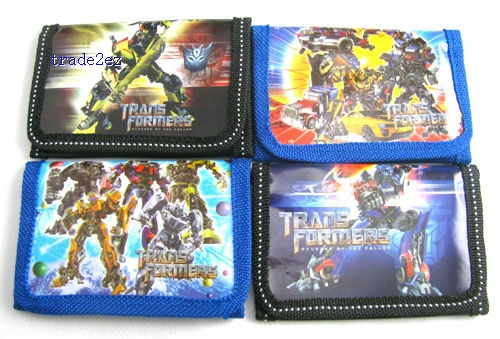 Transformers Cartoon Kid's Purses coin Wallets new Bag