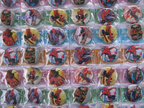 Spiderman Pins Badges Birthday Party 2.5 cm