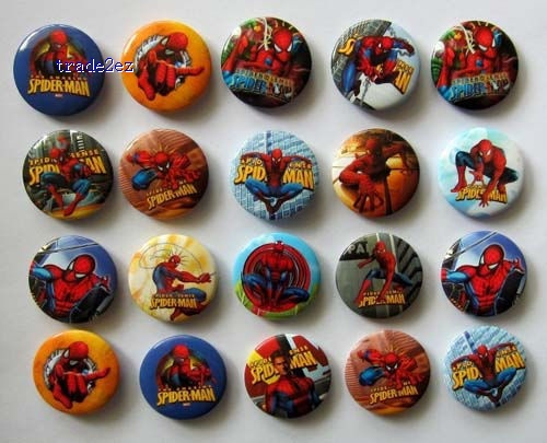 Spiderman 3 cm Button Pins Badge Wholesale