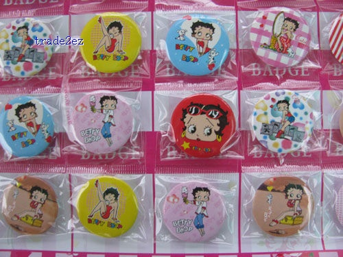 Betty Boop love Badge Button Pin 3 cm Gift