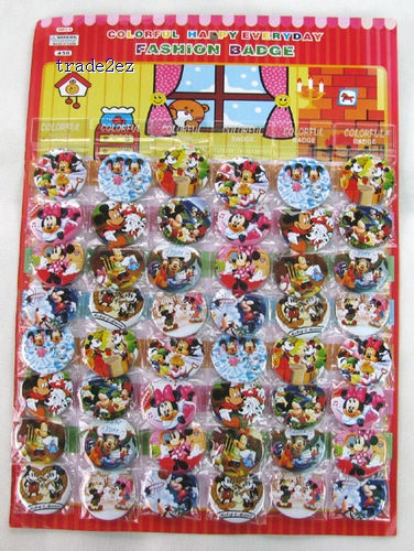 Mickey Mouse 4.5 cm Button Pins Badge Wholesale