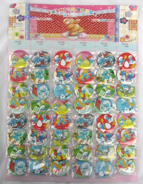The Smurfs Badge Button Pin 4.5 CM party favor
