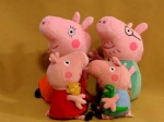 Hard wash peppa pig & george pig plush Mom & Daddy large size cute kids toddler toys pink
