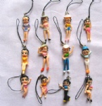Betty boop figures mobile phone strap Charms