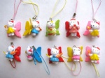 Hello Kitty figures mobile phone Strap Charms