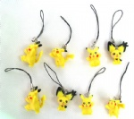 lovely Pikachu Cell Mobile Phone &Handbag charms straps