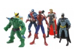 6 pcs Set Marvel The Avengers Wolverine+Captain+Spiderman+Hulk+Batman Figures