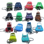 14x Cartoon Pixar Cars PVC Figure Key Chain Set