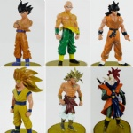 Anime Dragon Ball Z DBZ Figure Set 6pcs loose