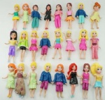 LOT 12pcs Polly Pockets girl/lady/female Doll figures Mixed Mattel Loose