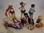 Sailor Moon figures Venus Mercury Mars