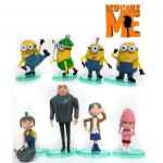 Despicable Me figures 8pcs Villain Papa and daughters Cuddly Stuff 3D eye Despicable Me Minion