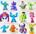 12 Monsters University Inc. Figure Set Lot Sulley Mike Randy Art Squishy