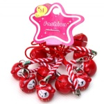 red white lucky cat ring starp